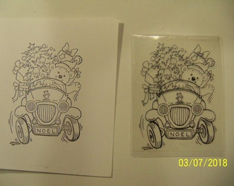 Stampavie Laurence Collection clear rubber stamp: A Christmas delivery