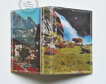 Passport Cover - Tirol mountains vintage print