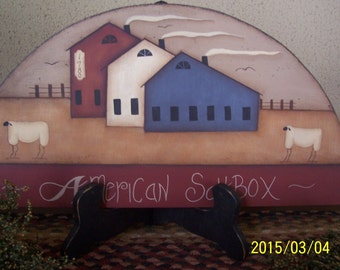 Primitive Saltbox House Door Crown/Topper Home Decor Decoration