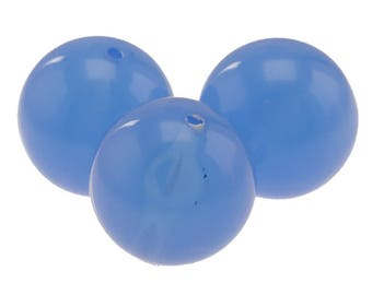 14mm round bead in periwinkle blue 7Pcs (PK0009_14mm_P5681)