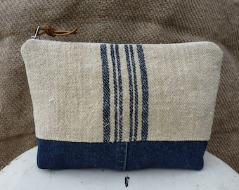 Antique Grain Sack Pouch