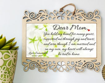 Wedding sign, Mother of the Bride gift, Mother of the bride, Wedding gift for mom, Gift from Bride, Mom Wedding gift, Wedding gift