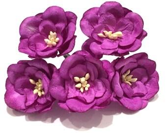 Magenta Mulberry Paper Magnolias Mag011