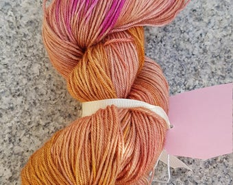 Luxury Hand dyed 4ply yarn Camel and silk 100g OOAK . Falling leaves