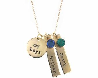 14k GoldFilled My Boys Necklace