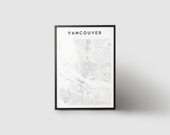 Vancouver Map Print