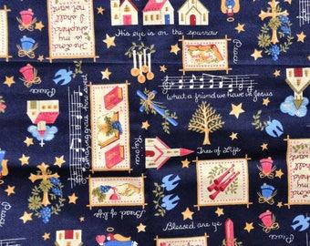 Beautiful Religious/Bible/Inspirational/Music Printed Fabric