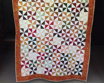 Fall/autumn pinwheel quilt