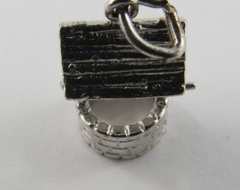A Well with Roof Sterling Silver Charm or Pendant.