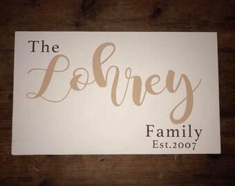 Customizable Family Sign