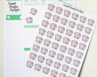 Kawaii Takeout Stickers!  Perfect for Erin Condren Life Planner, MAMBI/Happy Planner, Plum Planner, Etc.