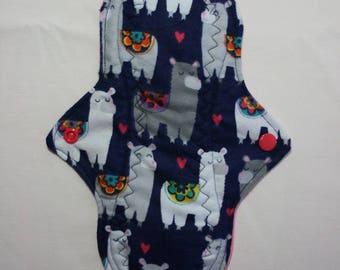 Kiki Mama Cloth Menstrual Pad Regular Size Llama Hearts