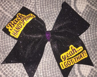 Back handspring Cheer Bow