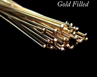 SALE Gold Filled Headpin 10 pcs 38mm 24 gauge RZ001Y38