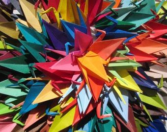 100 Large Origami Cranes-100 Shades of Large Japanese Paper Crane