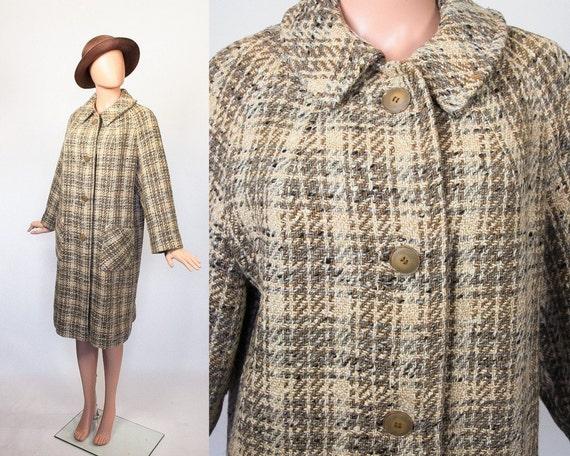manteau en tweed swing des ann es 50 ann es 1950 robe. Black Bedroom Furniture Sets. Home Design Ideas