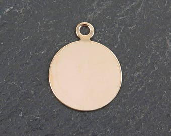 Gold Filled Round Tag 16mm