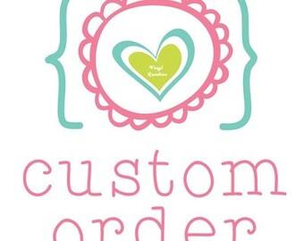 Custom burp cloths (6) for Angie
