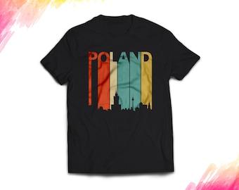 Poland Shirt women men, Vintage style Poland Gift T shirt, Retro Poland T shirt, 1970s Poland tshirt souvenir, tee shirt #1693