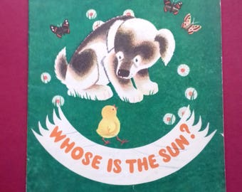 """Y. Averenkov """"Whose is the sun?"""". Children's book in English. 1973"""