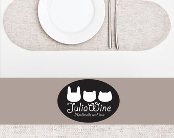White Placemat, Linen Placemat, White Kitchen Decor, Cloud Placemat, Housewarming Gifts, Table Mats, Childrens Placemat, Girlfriend Gift