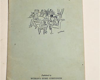 1929 Games For Grownups Booklet Published By Womans Home Companion