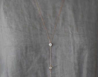 Crystallized Necklace, Rose gold chain and crystal charm, Gift for her, Birthday Gift, Special occasion, Latest fashion