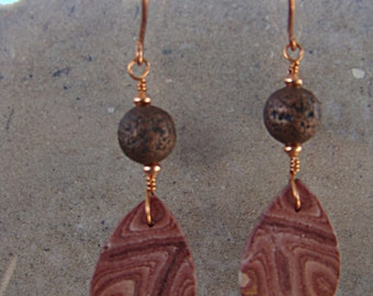 Matching Wonderstone Thin Teardrops with Copper