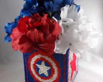 Team Captain America plastic canvas storage box and controller holder