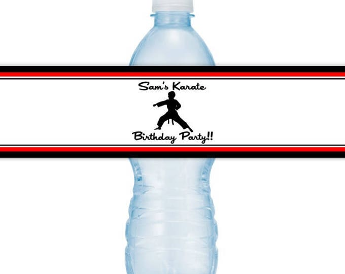 CUSTOM Printable Water Bottle Labels, CUSTOMIZED for you, Personalized for your event, you print, you cut, DIY water bottle labels