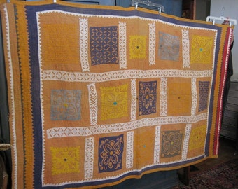 Antique Indian Quilted Throw