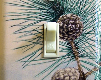 Pinecones IlIustration Decorative Switch Plate  ***FREE SHIPPING***
