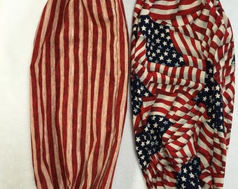 """Patriotic ReCycle Plastic Bag Dispenser """"Bag Tube"""" SIZE: 18"""" Tall x 20"""" circumference"""