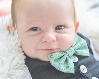 """White """"Dapper Little Lad"""" Vest Onesie and one detachable/changeable bowtie"""