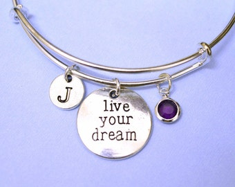 Live Your Dream bracelet, Live Your Dream jewelry, music bracelet, music jewelry, music note bracelet, music note jewelry, fashion bracelet