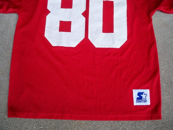 Korea Uniform NFL Size Jerry Rice Made San Large 80 Francisco Football Starter Jersey Vintage in 6Zqwzz