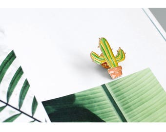 Light Green Cactus Enamel Pin, Cute Enamel Pin, Plants Enamel Pin, Forrest Enamel Pin
