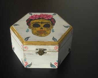 Frida Kahlo Art, wooden box, Frida quotes, Fridamania