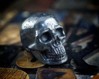 Hematite skull, gemstone skull, stone skull, carved skull, metal skull, crystal skull