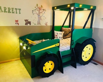 Tractor Bed PLANS (pdf format), Create a Farm Themed Bedroom for your Child, Perfect for the DIY Woodworking Enthusiast