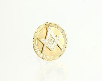 Antique Masonic Pin -1895 14K Gold