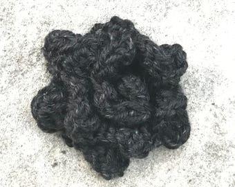 Rose - Crochet - Black