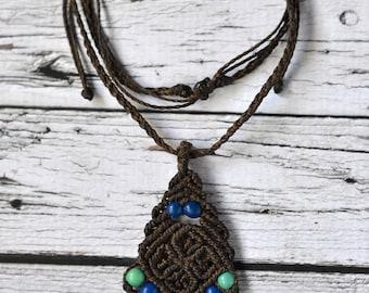 """""""Flor de Achira"""" Macrame necklace - choose your color - Boho style"""