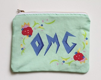 OMG Canvas Zip Pouch