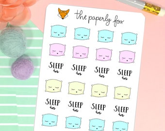 sleep in - planner sticker C008