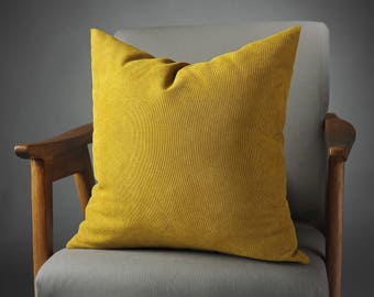 Mustard Pillow, Mustard Cushion, Mustard Velvet Pillow, Mustard Pillow Cover, Mustard Decorative Pillow, Mustard Pillows, mothers day gift