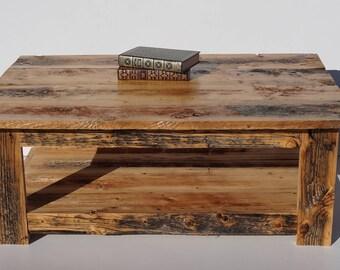 Barnboard coffee table