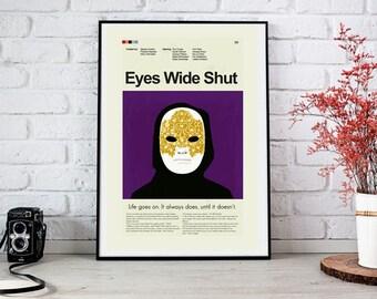 Eyes Wide Shut Mid-Century Modern Inspired Print