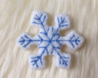 Felted Custom Snowflake Newborn Prop, Magnet, Ornament