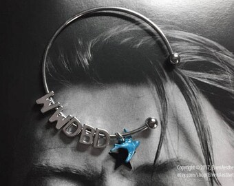 What Would David Bowie Do / Blackstar / Bluebird silver-tone bangle bracelet